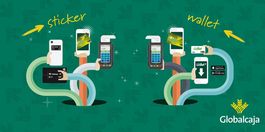 Pagar con el móvil es posible en Globalcaja con RuralVía Wallet y Sticker