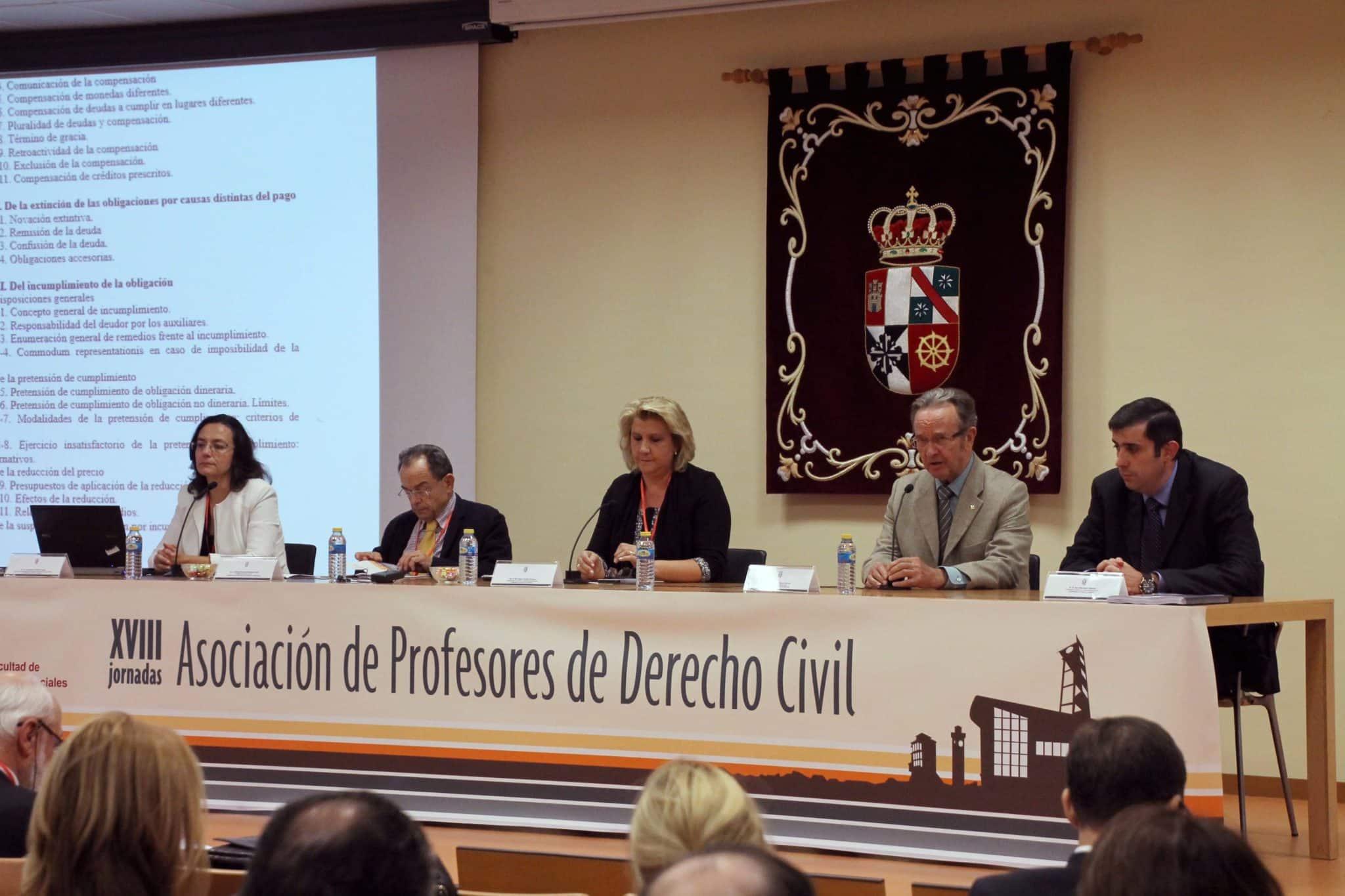 Globalcaja, con la Asociación de Profesores de Derecho Civil