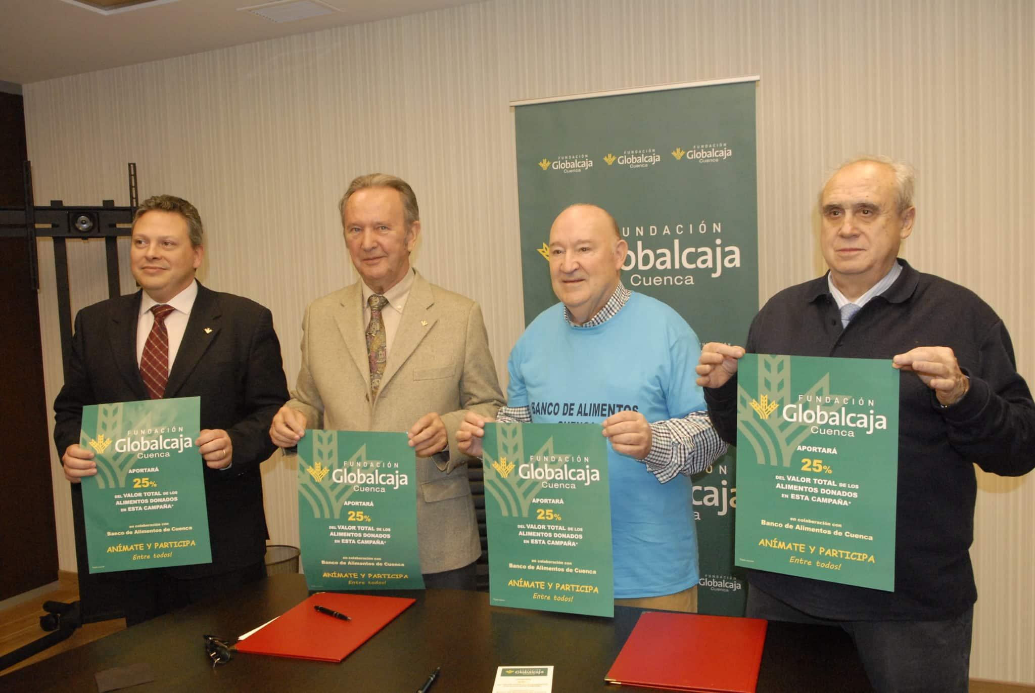 Renovado el convenio de la Fundación Globalcaja Cuenca con el Banco de Alimentos