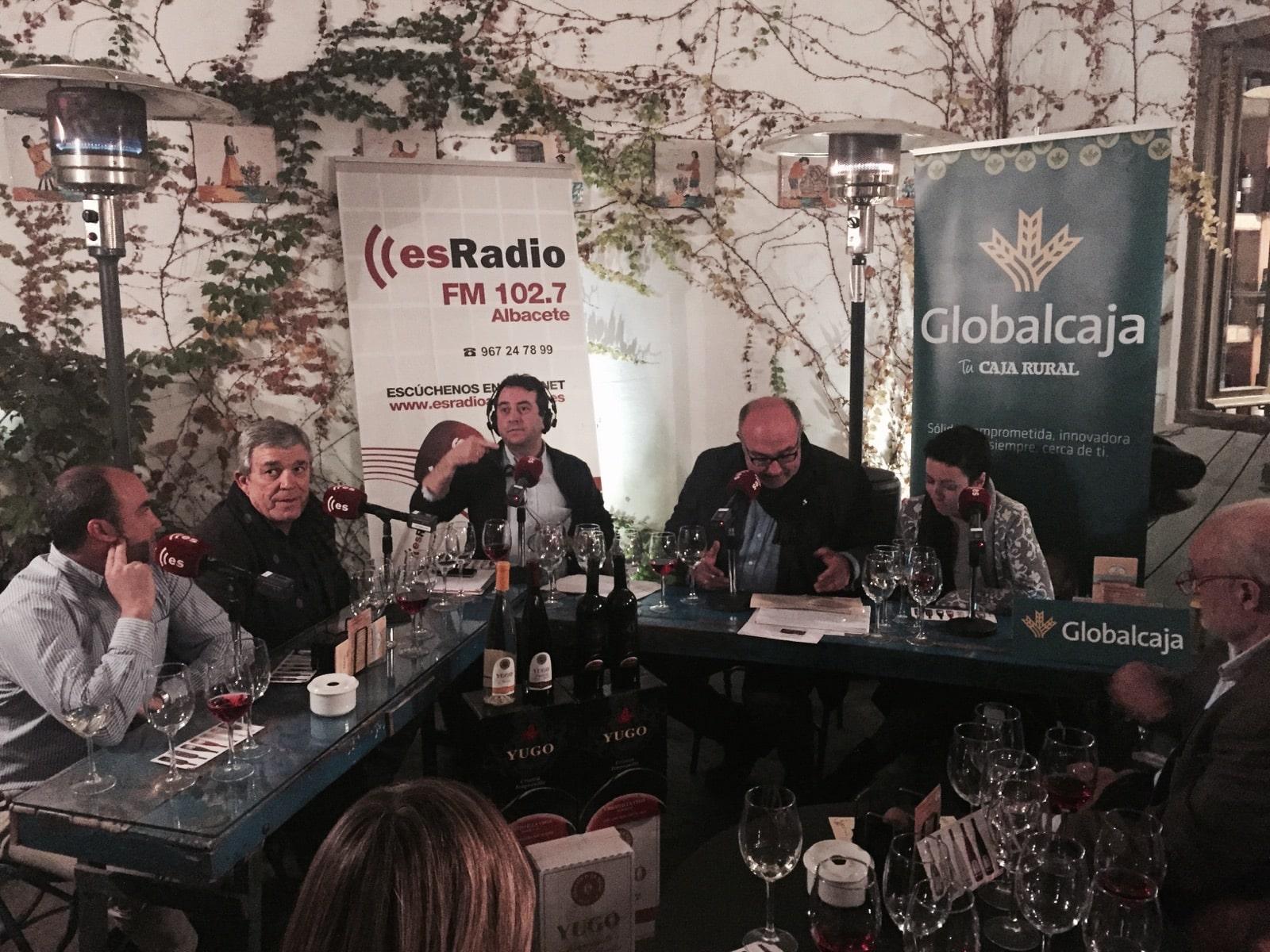 Globalcaja, en EsRadio Albacete, en apoyo de la promoción del vino