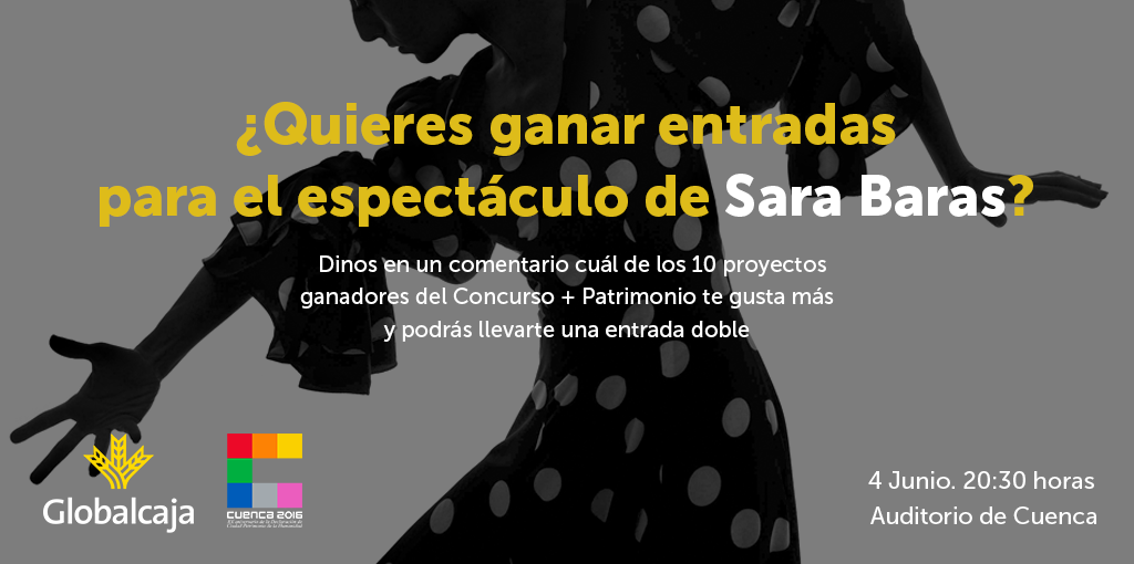 ¡Regalamos 3 entradas dobles para ver a Sara Baras en el Teatro Auditorio de Cuenca!