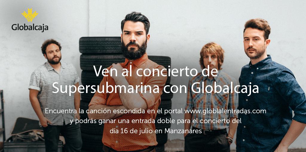 Globalcaja sortea 5 entradas dobles para ver Supersubmarina en Manzanares