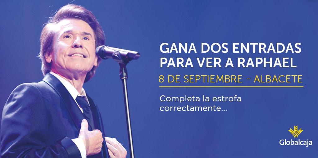 Globalcaja sortea 2 entradas dobles para ver a Raphael en concierto
