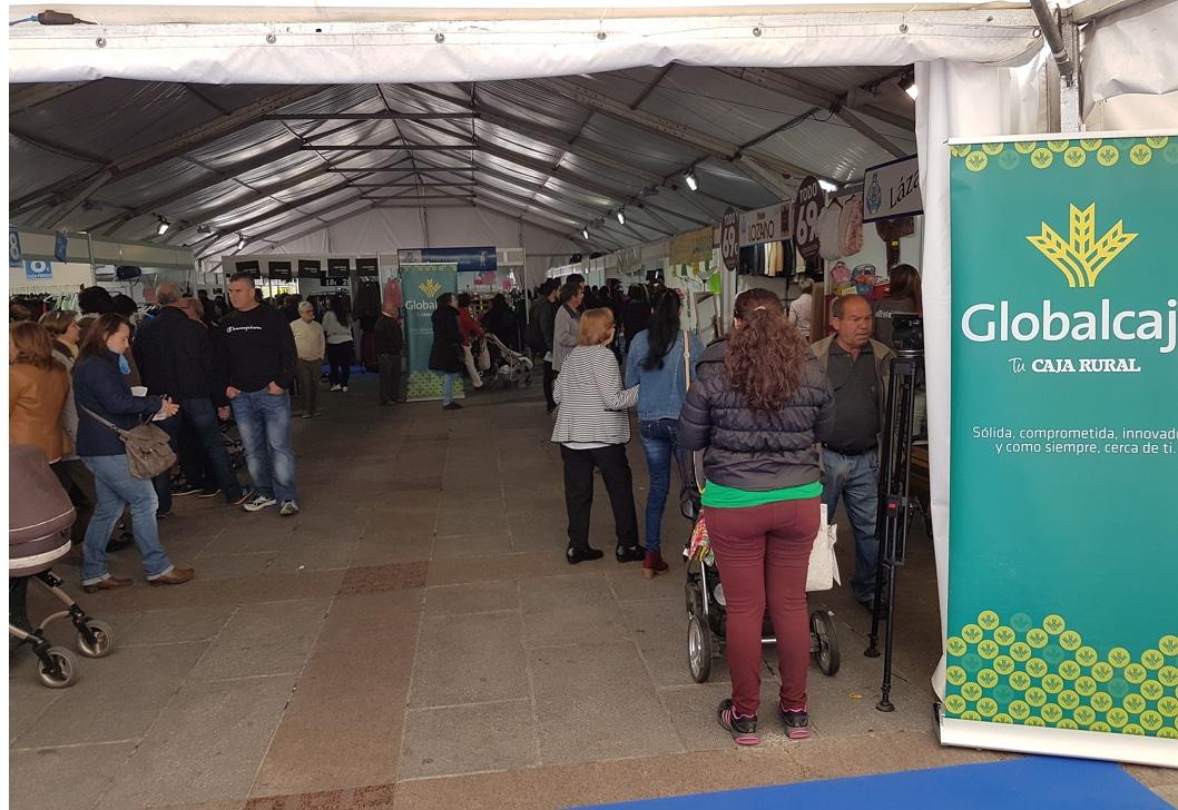 Globalcaja, con el pequeño comercio de Ciudad Real, en la XV Feria del Stock