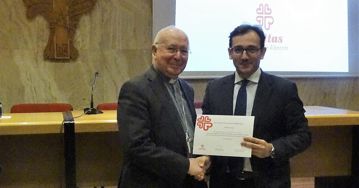 Globalcaja recibió un reconocimiento de Cáritas Diocesana Albacete