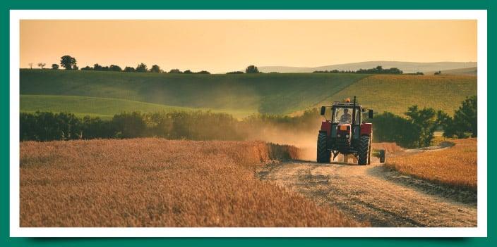 Tractor con GPS