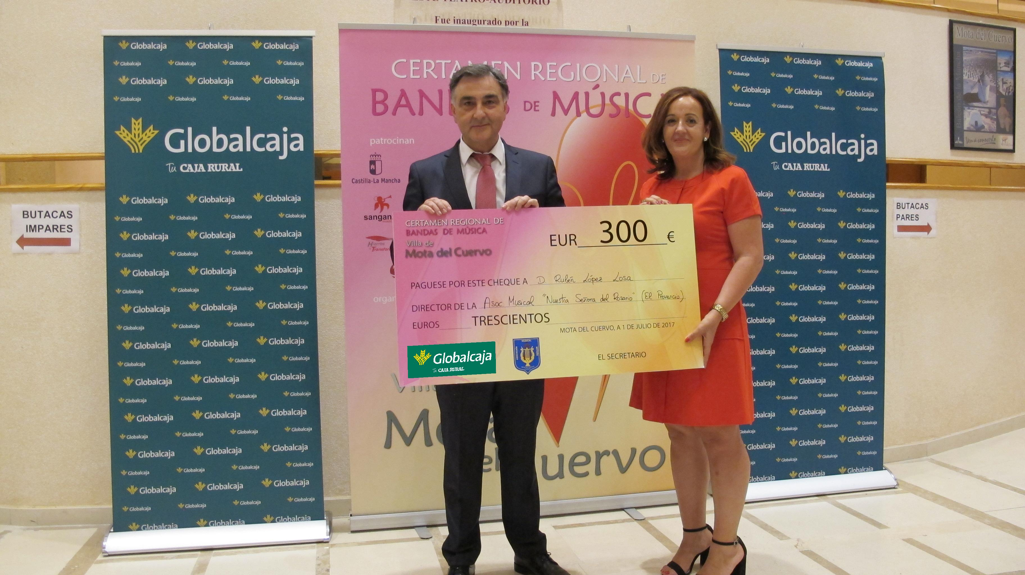 """GLOBALCAJA APOYO EL IV CERTAMEN REGIONAL DE BANDAS DE MUSICA """"VILLA MOTA DEL CUERVO"""""""