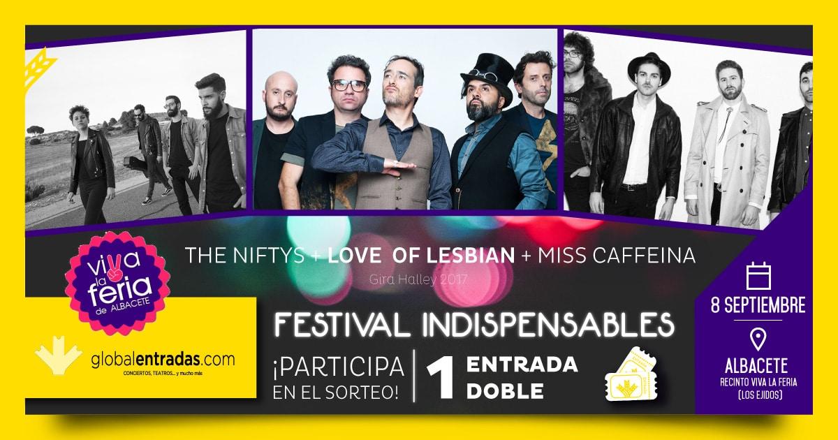 Puedes conseguir una entrada doble para ver a los grandes artistas de Love of Lesbian el día 8 de septiembre en el Recinto Viva La Feria.