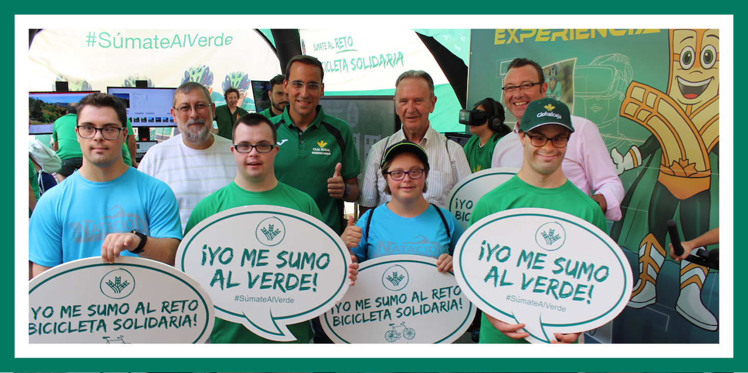 Globalcaja con el proyecto Bicicleta Solidaria dona más de 4.000€ a Adocu con motivo de la vuelta ciclista a España