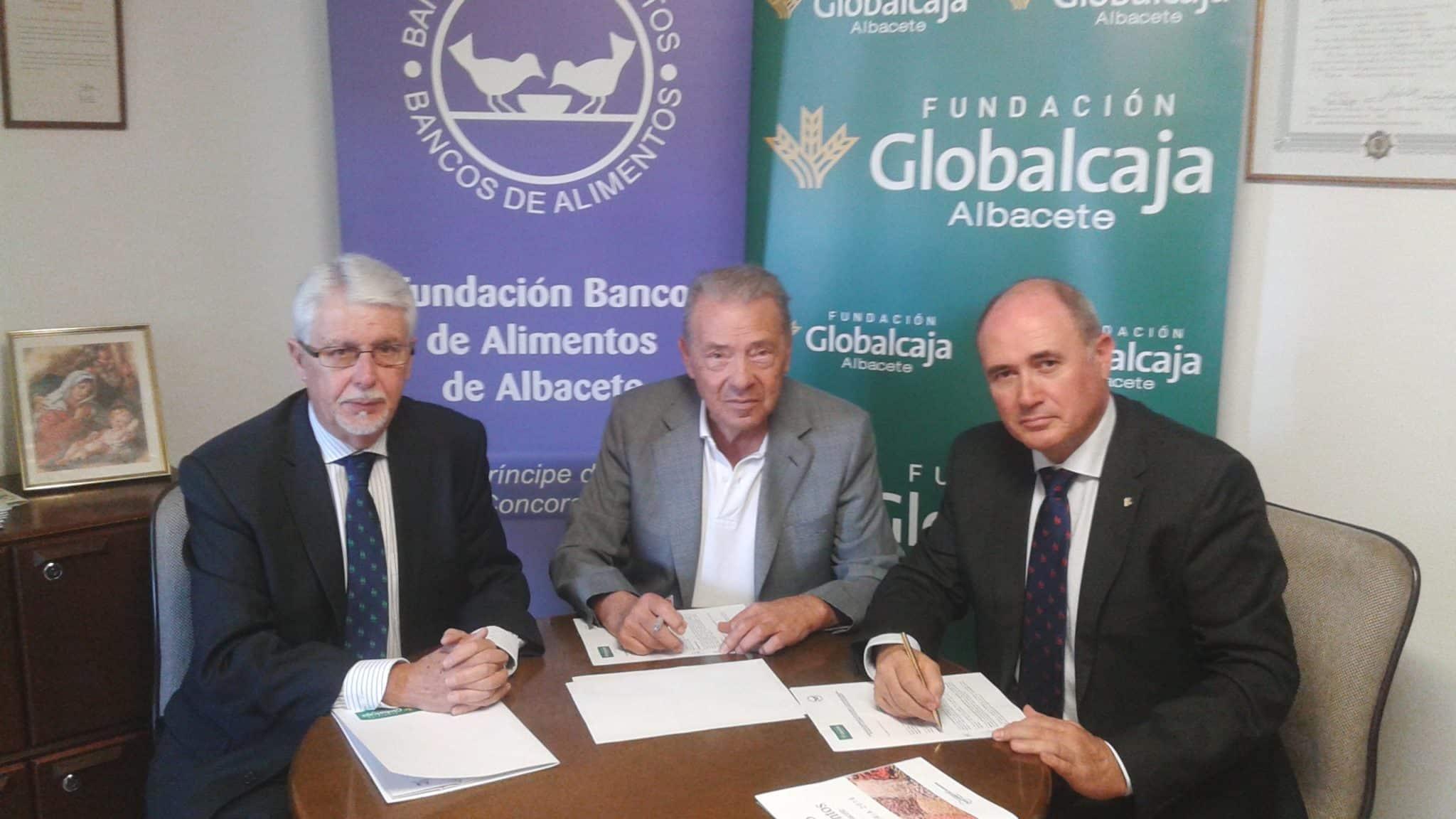CONVENIO DE COLABORACION DE LA FUNDACION GLOBALCAJA ALBACETE CON EL BANCO DE ALIMENTOS