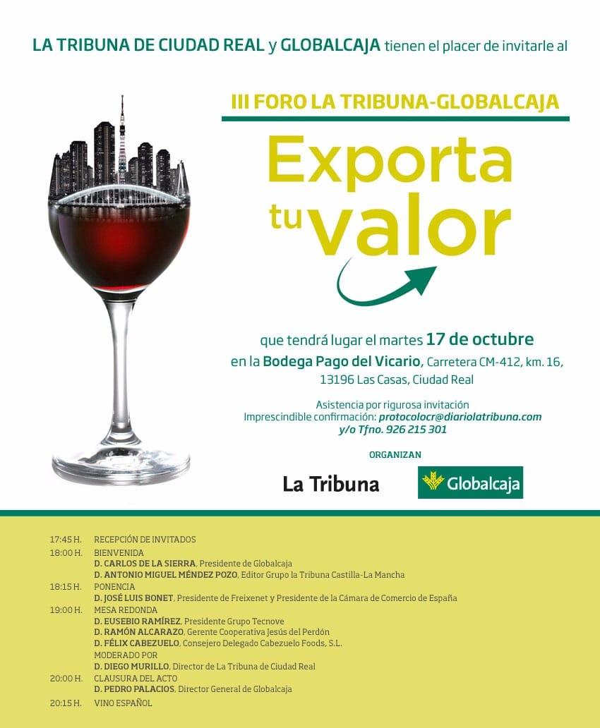 """III FORO LA TRIBUNA-GLOBALCAJA """"EXPORTA TU VALOR"""""""
