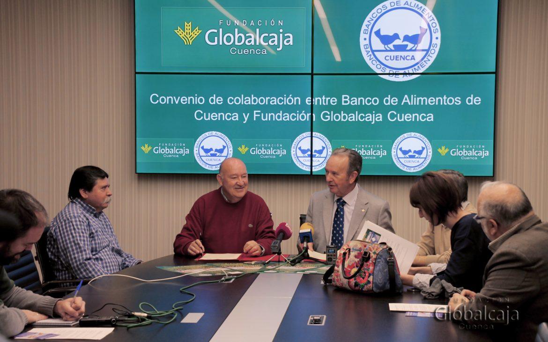 CONVENIO DE LA FUNDACION GLOBALCAJA CUENCA CON EL BANCO DE ALIMENTOS