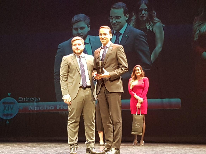 El director general de Globalcaja, Pedro Palacios, ha recibido el Premio Imastv a la Excelencia en la Gestión
