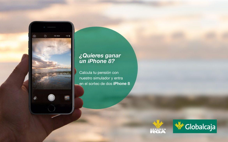 Sorteo de 2 iPhone 8 por simular tu plan de pensiones