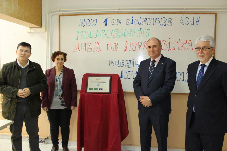 Inaugurada el Aula Informática del IES Sabuco, que cuenta con el apoyo de Globalcaja