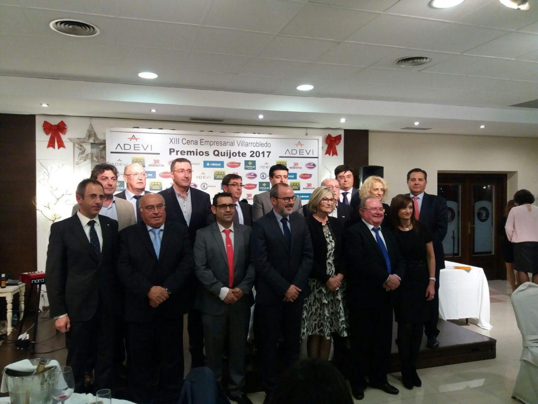 Globalcaja, en los Premios Empresariales Quijote de Adevi