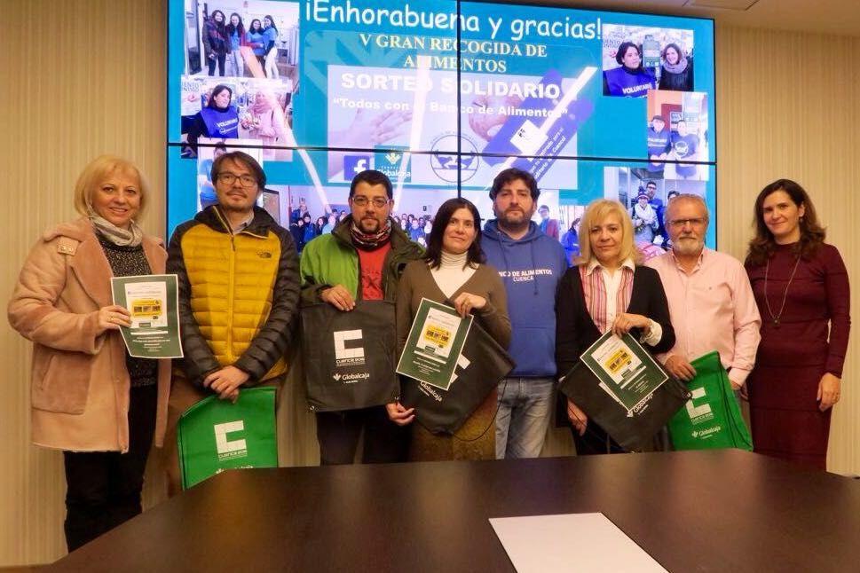 """Globalcaja da a conocer Los Premios del """"Sorteo Solidario"""" de la V Recogida del Banco de Alimentos de Cuenca"""
