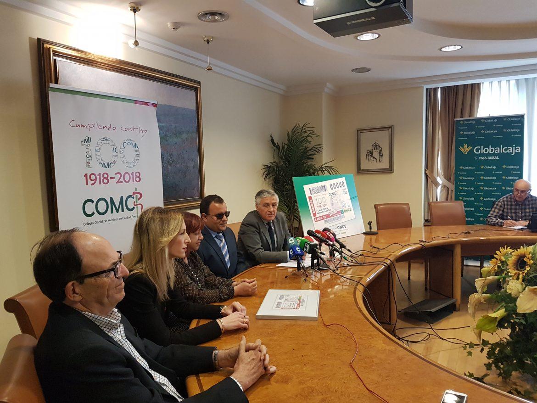 La Sede de Globalcaja acoge la Presentación del Cupón de La Once conmemorativo del Centenario del Colegio de Médicos de Ciudad Real