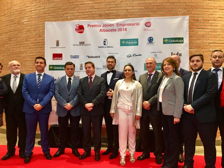La Fundación Globalcaja Albacete, en los premios aje, una muestra de su compromiso con los emprendedores de CLM