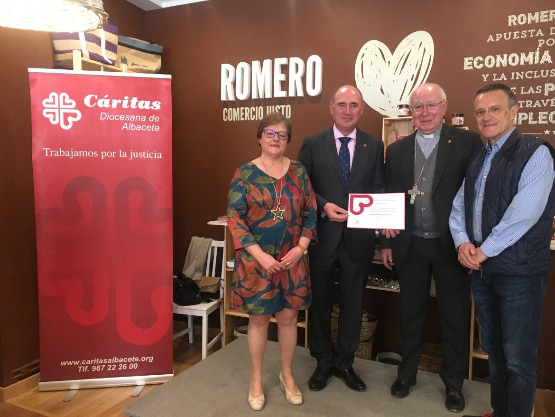 Globalcaja recibe un reconocimiento de Caritas Diocesana en Albacete