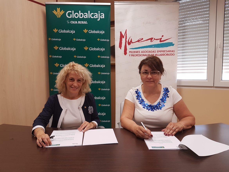 FIRMADO EL CONVENIO DE GLOBALCAJA CON MAEVI (Mujeres Asociadas Empresarias y Profesionales de Villarrobledo)