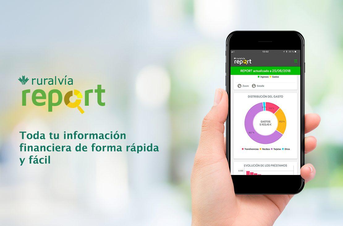 Ruralvía Report, la nueva aplicación de Globalcaja para gestionar tus finanzas personales.