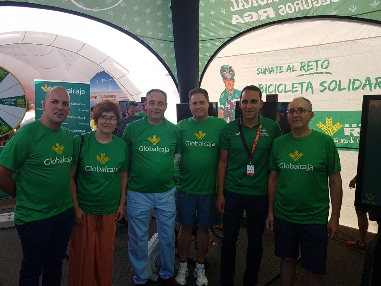 Nuevo éxito de Globalcaja y RGA con la Bicicleta Solidaria en Almadén