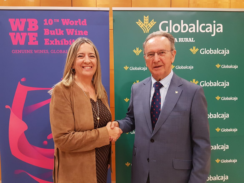 Renovado el convenio de Globalcaja para la internacionalizacion del sector del vino de C-LM en la World Bulk Wine Exhibition (WBWE)