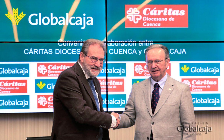 Globalcaja y Caritas Diocesana de Cuenca firman un convenio para ayudar a los colectivos mas vulnerables de la sociedad