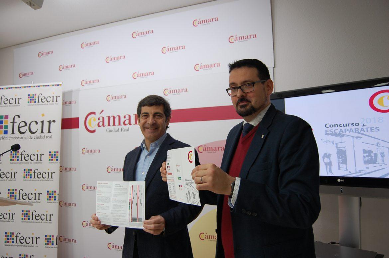 El Concurso de Escaparates Navideños de la Cámara y Fecir apuesta por la dinamización del comercio y repartirá 2.500 euros en premios