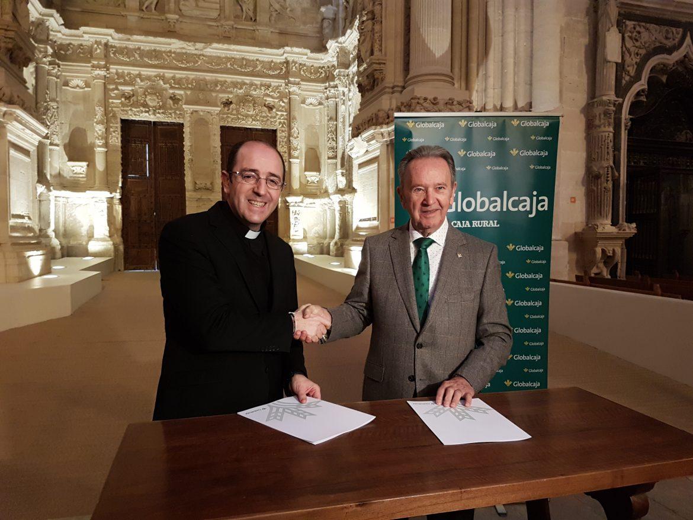 """Firmado el convenio de Globalcaja y el Cabildo de la Catedral de Cuenca para el """"Proyecto Ilumina la Catedral"""""""