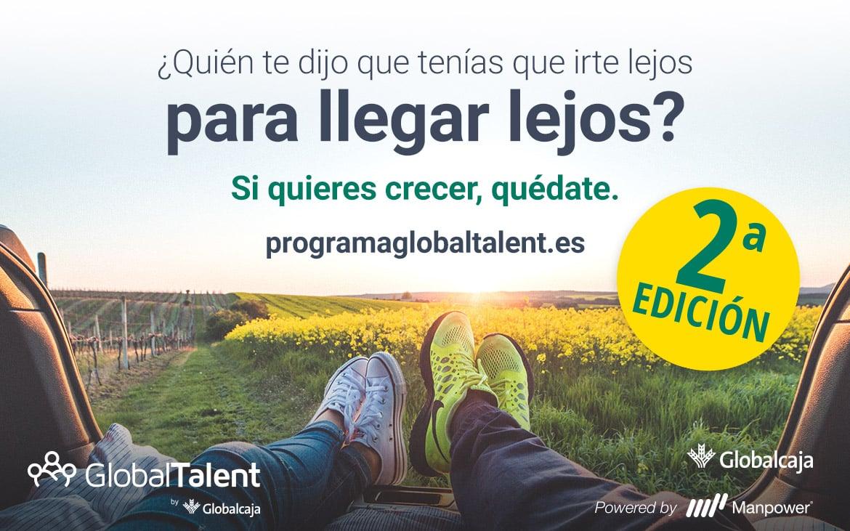 Globalcaja lanza la 2ª edición de GlobalTalent, un programa de captación de talento para la entidad