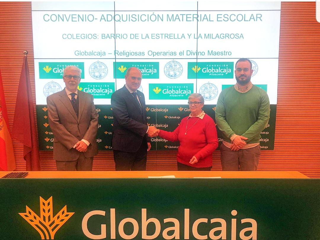 Renovado el convenio de La Fundación Globalcaja Albacete con Las Religiosas Operarias del Divino Maestro