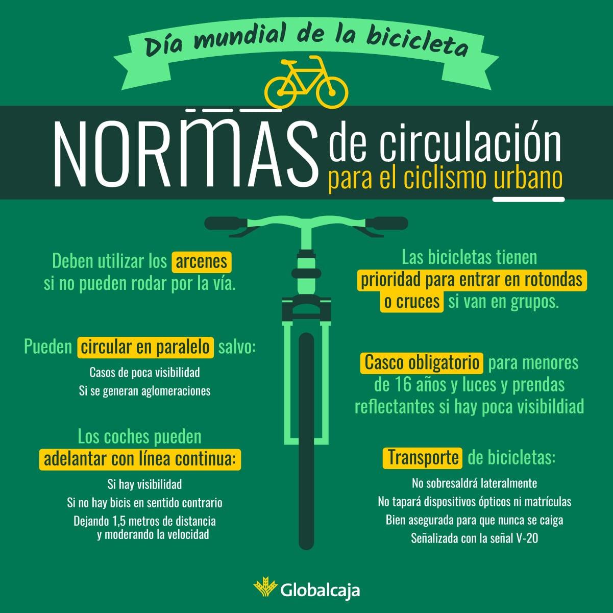 Infografía normas de la bicicleta