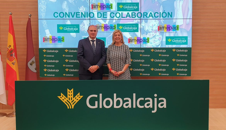 Acuerdo de colaboración entre la Fundación Globalcaja Albacete y Amepap