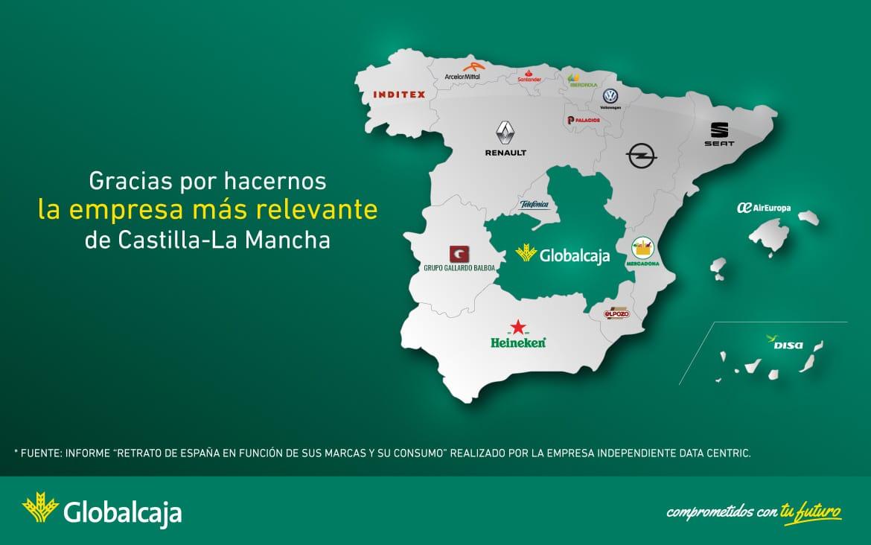 Globalcaja es la empresa más relevante de Castilla-La Mancha, gracias a ti