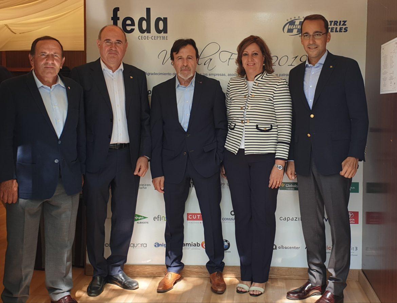 Globalcaja, con el mundo de la empresa, en la caseta de Feda en la Feria de Albacete