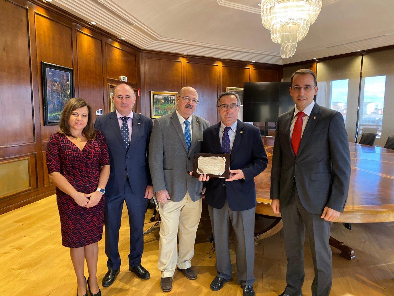 Reconocimiento de Globalcaja a José Mansilla, Ex Decano del Colegio de Ingenieros Agrónomos de Albacete