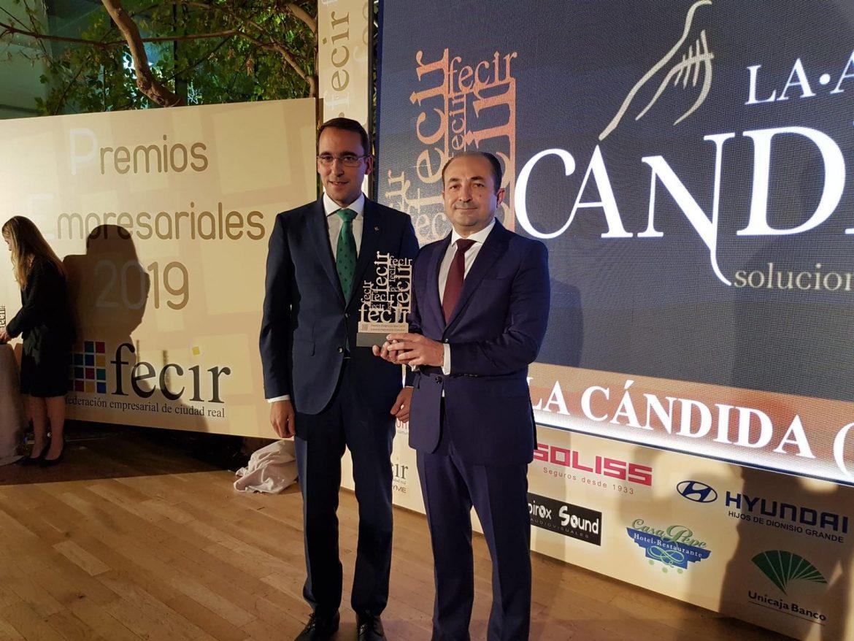 El Director General de Globalcaja, Pedro Palacios, destaca la trayectoria de Fecir en apoyo del mundo empresarial de la provincia de Ciudad Real