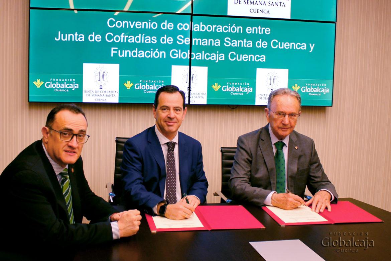 Renovado el convenio de La Fundación Globalcaja Cuenca con La Junta de cofradías para la Semana Santa 2020