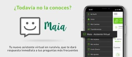 Maia, el asistente virtual de ruralvía móvil