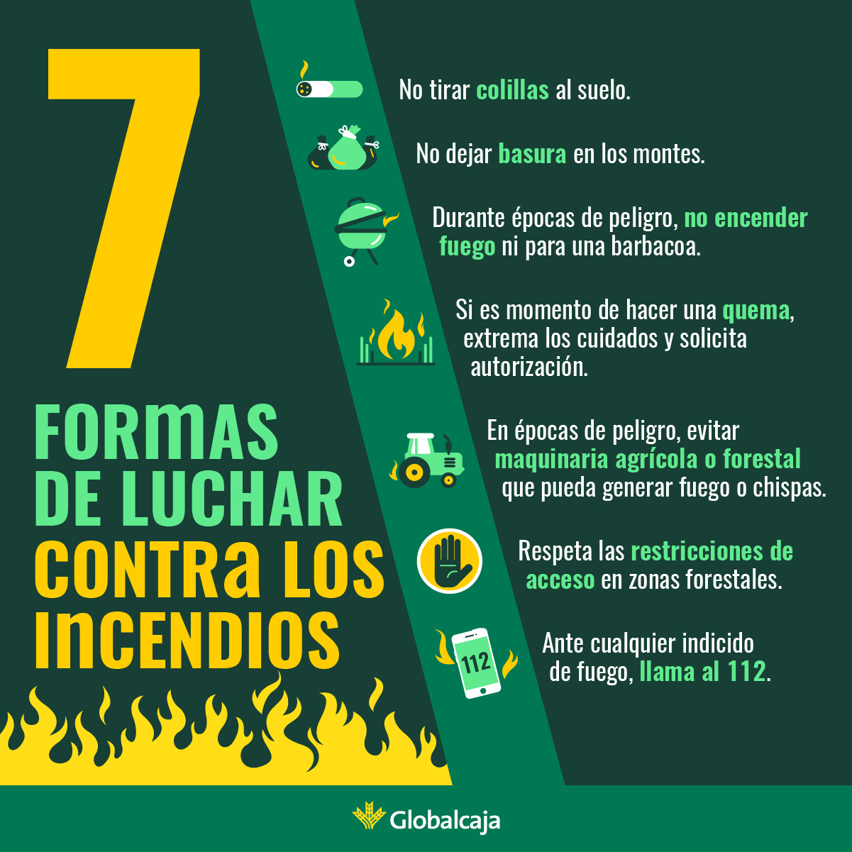 consejos para prevenir incendios forestales